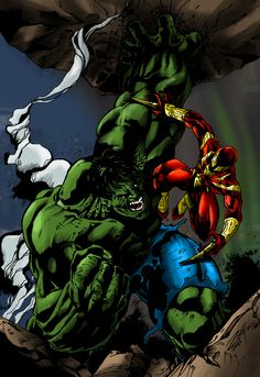 #Hulk #Fan #Art. (R1lf's Hulk vs. Iron Spiderman) By: Deathring2000. [THANK U 4 PINNING!!]