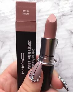 There are a lot of people who nowadays are applying cosmetics using their fingers, in my opinion it looks a lot better if applied using a make-up brush. This article describes the reasons for this and looks at the types of make-up bru Mac Lipstick Swatches, Lipgloss, Nude Lipstick, Mac Lipsticks, Mac Lipstick Colors, Liquid Lipstick, Mac Lipstick Shades, Drugstore Lipstick, Diy Lipstick