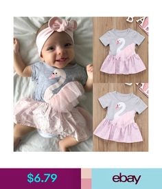 b4ce96c8c515  6.79 - Newborn Baby Girl Short Sleeve Romper Lace Dot Dress Outfit Clothes  Summer Cdy