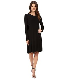 KAMALIKULTURE by Norma Kamali Long Sleeve Swing Dress