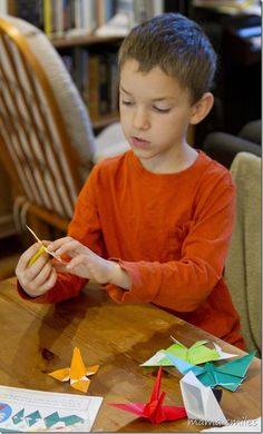 Origami is a fun, mess-free activity for kids that builds spatial awareness and provides a foundation for geometry.