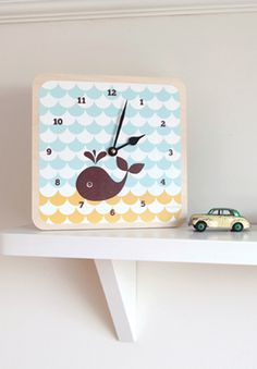 Clock: Look at this sweet wooden nursery clock, it's adorable!
