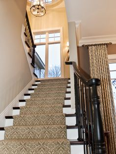 Staircase Window Treatments For Large Windows Design