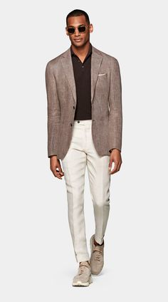 Linen Suits For Men, Mens Suits, Smart Casual Menswear, Men Casual, Semi Formal Outfits, Suit Supply, Custom Made Suits, Business Casual Men, Summer Suits