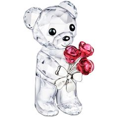 Swarovski Collectible Figurine, Red Roses For You Kris Bear (340 BRL) ❤ liked on Polyvore featuring home, home decor, figurines, no color, bear home decor, rose home decor, swarovski crystal figurines, red home accessories and bear figurines