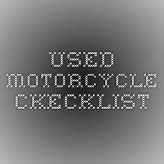 used motorcycle ckecklist