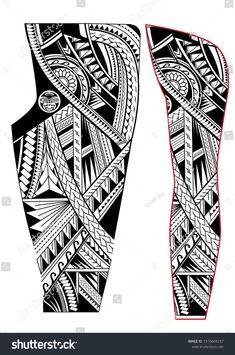 Maori Tattoo Arm, Polynesian Tattoo Sleeve, Polynesian Tribal Tattoos, Tribal Tattoos For Men, Tribal Sleeve Tattoos, Band Tattoo Designs, Maori Tattoo Designs, Leg Band Tattoos, Line Tattoos