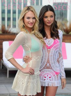 67f943c420 Victoria s Secret Angels Candice Swanepoel and Miranda Kerr launch the 2012  Swim Collection at the Thompson Hotel on March 2012 in Beverly Hills