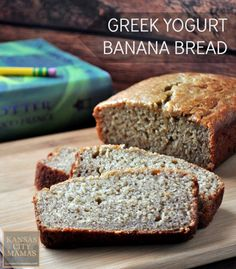 Greek Yogurt Banana Bread - This may be the best banana bread recipe ever.plus add protein with greek yogurt and fiber with whole wheat flour and oat bran Healthy Bread Recipes, Banana Bread Recipes, Healthy Baking, Baking Recipes, Snack Recipes, Healthy Blueberry Muffins, Healthy Banana Bread, Best Banana Bread, Greek Yogurt Banana Bread