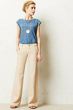 Anthropologie again. Wish i could find a pattern for a top like this.
