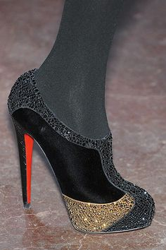 Christian Louboutin  Saunders Strass Booties