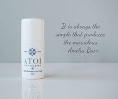 Sometimes less is more. A simple formula for amazing results—ÀTOI's Extra Treatment Eye Cream. https://www.secure-booker.com/atoiskincare/ShopOnline/Product/6035829/Extra-Treatment-Eye-Cream
