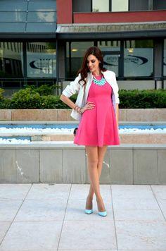 Miss Selfridge Coral Cute Skater Dress http://ift.tt/1mCpf50