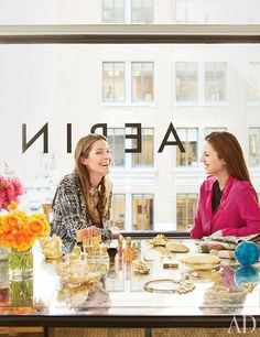 Aerin Lauder's Glamorous Manhattan Offices : Architectural Digest ..pops of color