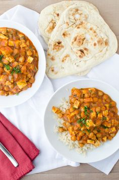 Butter Chickpeas and Tofu