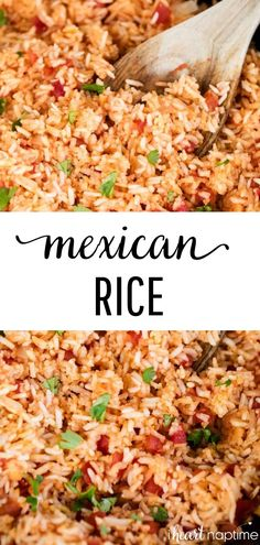 Easy Mexican Rice – Made in just one pot in a little over 30 minutes! Full of fl… Easy Mexican Rice – Made in just one pot in a little over 30 minutes! Full of flavor and so easy to customize. The perfect side dish for all your favorite Mexican recipes. Rice Recipes, Dinner Recipes, Cooking Recipes, Healthy Recipes, Easy Mexican Food Recipes, Cheap Recipes, Cooking Games, Recipies, Rice Dishes