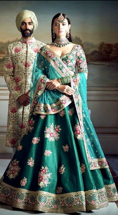 The Stylish And Elegant Lehenag Choli In Teal Green Colour Looks Stunning And Gorgeous With Trendy And Fashionable Embroidery . The Silk Fabric Party Wear Lehenga Choli Looks Extremely Attractive And . Designer Bridal Lehenga, Indian Bridal Lehenga, Indian Bridal Outfits, Indian Bridal Fashion, Indian Bridal Wear, Indian Dresses, Indian Wear, Pakistani Bridal, Indian Clothes