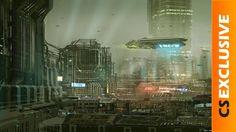 In veel science-fiction films zie je gigantische steden Cyberpunk City, Futuristic City, Futuristic Architecture, Science Fiction, Fantasy Artwork, Sci Fi Stadt, Sci Fi Wallpaper, Sci Fi City, Sketches