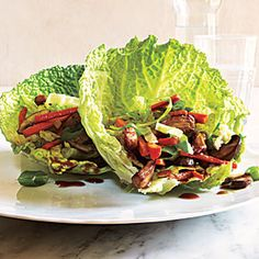 Mu Shu Pork Wraps | MyRecipes.com #myplate #protein #vegetable