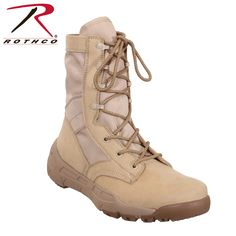 Rothco's V-Max Lightweight Tactical Boot is the optimal choice for an all-purpose military-style boot. View Rothco's full line of tactical boots. Military Tactical Boots, Tactical Shirt, Military Combat Boots, Tactical Clothing, Tactical Gear, Military Army, Abilene Boots, Army Navy Store, Women's Motorcycle Boots