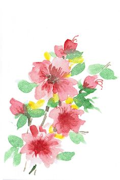 japanese flower watercolor chinese watercolor flowers by mirabel