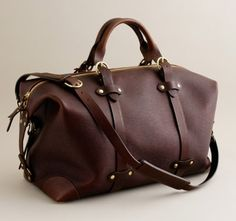 stunning leather weekend bag