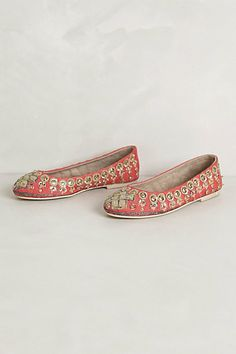 Jeweled Ballet Flats      #anthropologie