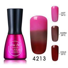 Beau Gel Thermal 3 Color Changing Nail Gel Polish Soak Off 7ml Temperature Color Chageable Nails Polish Gel Varnish Nail Lacquer