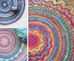 DIY Crochet Mandala Rug Lots Of Artistic Patterns | The WHOot