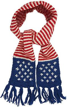 Stars & Stripes Wool Scarf at the Veterans Site....so want to learn to knit this!!!!