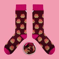Model: Bawełniany Muffin z taaaką Wiśnią Seria: Eatable [|] #skarpetki #skarpetka #socks #sock #womensocks #mensocks #cupofsox #koloroweskarpetki [|]