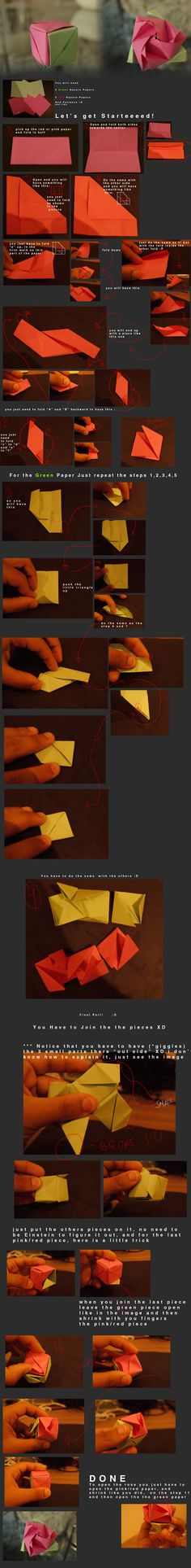 Magic Box Origami tutorial by CarlosArthur.deviantart.com