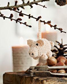 Julehæklerier: Hækl den sødeste julegris - Hendes Verden