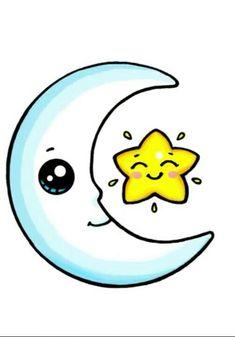 mira al cielo cuando estés perdido. - Man Tutorial and Ideas Kawaii Girl Drawings, Disney Drawings, Cartoon Drawings, 365 Kawaii, Kawaii Art, Cute Easy Drawings, Cute Animal Drawings, Kawaii Doodles, Cute Doodles