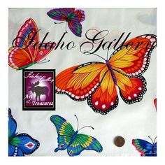Curtain White Psychedelic Butterfly Window Valance by Idaho Gallery