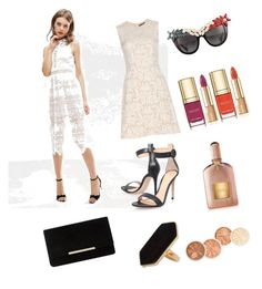"""White lace dress"" by natashakorol on Polyvore featuring ASOS, Gianvito Rossi, Dune, Jaeger, Alexander McQueen, Anna-Karin Karlsson, Dolce&Gabbana and Tom Ford"