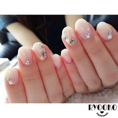 """* #nail #gelnail #cute #nailart #ネイル #ジェルネイル #美甲 #ブライダルネイル #福山 #bridal"" Photo taken by @owocowac on Instagram, pinned via the InstaPin iOS App! http://www.instapinapp.com (08/29/2015)"