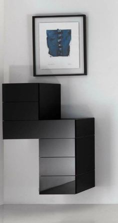 Lago - Really like how this arrangement feels like a floating chest of drawers.