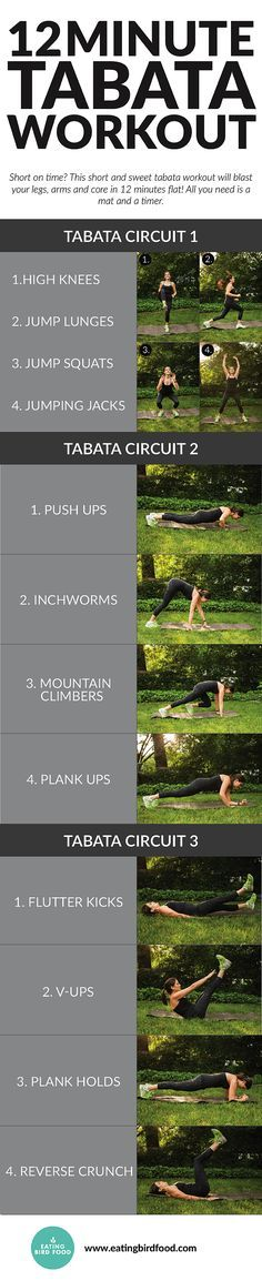 Try this quick tabata workout that will help you get a quick sweat when your time is limited!