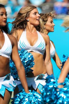 Carolina Panthers Topcats Cheerleaders during second half action between the Carolina Panthers and the Buffalo Bills on September 17, 2017 at Bank of America Stadium in Charlotte,NC. (Photo by Jim Dedmon/Icon Sportswire)