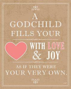 So true. Love my godchild.