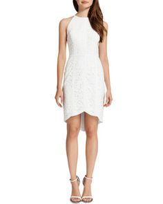 Ryder Lace Halter Style Dress, Lily White by Cynthia Steffe at Neiman Marcus.  Not sure about the lace..