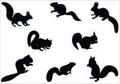 An awesome set of squirrel silhouette ideal for beautiful nature as well as animal vector illustrations comes in handy along with this Squirrel Silhouette Vector. Squirrel Silhouette, Silhouette Clip Art, Animal Silhouette, Silhouette Portrait, Art Clipart, Free Clipart Images, Kirigami, Stencils, Scrappy Quilts