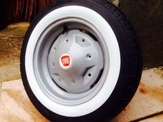 Classic Fiat 126 wheel restored