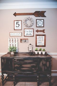 Legacy is known for their collage walls and I'm sure you can see why! We carry everything you need to make your home a collaboration of all of your favorite signs!  www.legacyhomestaging.com