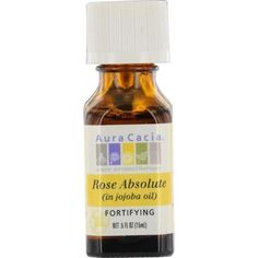 Essential Oils Aura Cacia Rose Absolute In Jojoba Oil .5 Oz By Aura Cacia
