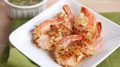 Baked Coconut Shrimp w/spicy pineapple jalepeno dipping sauce - Made this for dinner last night. To make the dipping sauce healthier, we just put fresh pineapple, fresh lime and a whole jalepeno in the blender. Turned out amazing. Seafood Dishes, Fish And Seafood, Seafood Recipes, Cooking Recipes, Healthy Recipes, Fish Dishes, Main Dishes, Healthy Food, Healthy Eating