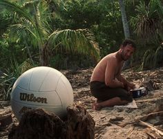 We might just make it. Did that thought ever cross your brain? Well, regardless, I would rather take my chance out there on the ocean than to stay here and die on this shithole island, spending the rest of my life talking... TO A GODDAMN VOLLEYBALL!