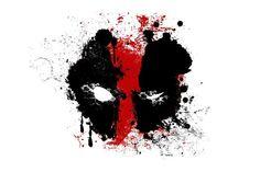 Deadpool ventilateur Anime affiche tissu de soie Art noir rouge éclaboussure de peinture d'affiche de superbes photos sur le mur pour la décoration 2