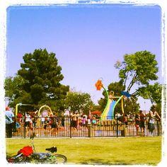 Splash Park in Las Vegas. Fun for the kids and FREE!!! Lol!